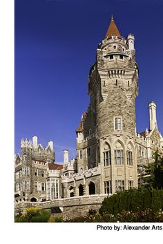 """Casa Loma is a grand mansion on 5 acres in downtown Toronto built in the early 1900's and famed for its extravagance and size. Today, """"Canada's Castle"""" and its gardens are open to visitors and offers self-guided audio tours in several languages. Casa Loma has also served as the set for several Hollywood movies, including Chicago and X-Men. #Toronto #Travel #Canada"""