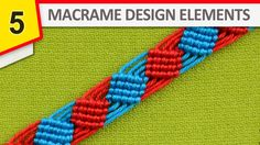 From this macrame pattern you can make a nice bracelet with squares (Diamonds, Rhombus) or interesting decorations for clothes, towels and other textile products.