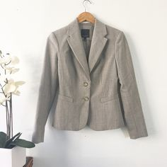 The Limited Blazer Taupe color Lovely fitted fully lined blazer form THE LIMITED, excellent condition! The color is between light gray and soft brown. :) The Limited Jackets & Coats Blazers