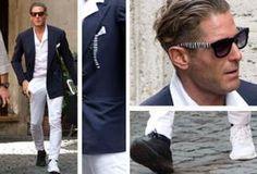 Lapo Elkann, occhiali e scarpe bianconere per lo scudetto della Juventus