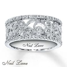 Diamond Ring 3/4 ct tw Round-cut  14K White Gold. Yes, please!