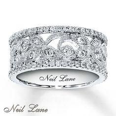 Diamond Ring 3/4 ct tw Round-cut  14K White Gold. Yes, please!