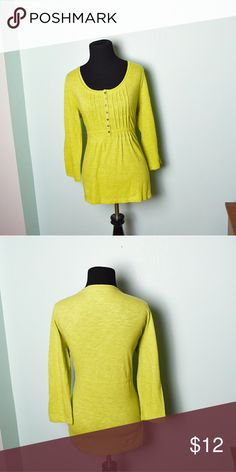 Super Cute Chartreuse Colored Top In excellent condition! Very comfortable, lightweight, and stretchy! Buy 3 items and get 1 free plus 15% off your purchase total! Tops