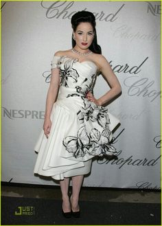 Dita Von Teese, wearing Dior, at the Chopard Trophy Award at Carlton Hotel during the 2008 Cannes Film Festival on May 19, 2008 in Cannes, France.