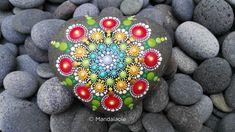 Image of Heart shaped Mandala stone 2- Valentine Mandala Sone