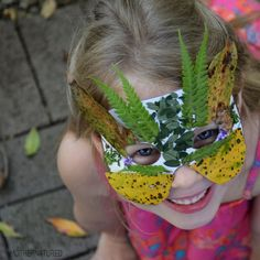 simple nature mask crafts for children - Nature superheroes?