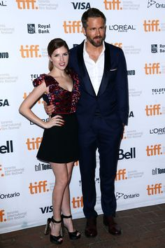 Anna Kendrick and Ryan Reynolds take a cooler approach at the Toronto International Film Festival - TIFF Fashion