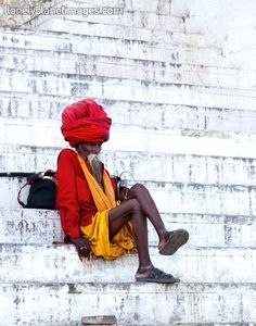 Snap of the day: a holy man sits on the ghats in Varanasi, by Dennis Walton.