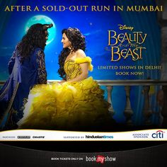 India's first ever #Broadway musical, #Disney 's Beauty and the Beast comes to #Delhi this #December! Click on the image to book tix.