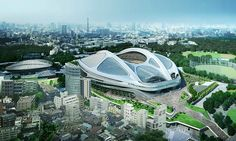 Artist's impression: the stadium's budget almost doubled before it was scrapped.
