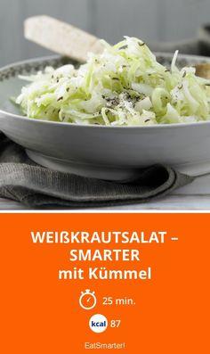 Weißkrautsalat – smarter - mit Kümmel - smarter - Kalorien: 87 kcal - Zeit: 25 Min.   eatsmarter.de
