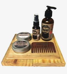 Holiday Beard & Mustache Care Gift Set | Spiff up your manly scruff with these natural concoctions for ... | Shaving & Grooming