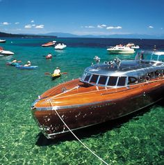 This boat is awesome, Lake Tahoe Thunderbird Kirkland Yacht Detailing - DBA Gig Harbor Yacht Detailing - Maninoa K Thompson - Speed Boats, Power Boats, Riva Boot, Classic Wooden Boats, Vintage Boats, Cool Boats, Love Boat, Yacht Boat, Luxury Yachts
