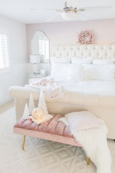 Light and airy luxe bedroom design ideas: luxurious master bedroom refresh with Universal Furniture