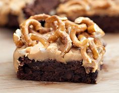 These were REALLY rich and delicious. Ended up just sprinkling sea salt on the top of the butterscotch layer (rather than crushed pretzels). Used butterscotch chips for the top layer and may tweak that next time. The Guinness adds a wonderfully complex flavor to the brownie layer.