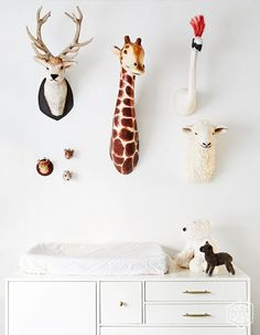 On Trend Faux Animal Busts for the Nursery www.momsbestnetwork.com