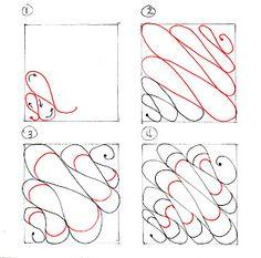Cheryl's Ink: 'Kandy Ribnz'  (tangle/steps)