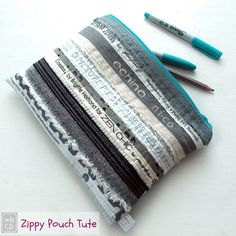 Don't throw away those fabric selvages. Instead use this pattern to create a simple zipper bag.