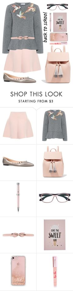 """""""back to school"""" by mocimoca ❤ liked on Polyvore featuring RED Valentino, Valentino, Loeffler Randall, Montegrappa, Herrlicht, Rebecca Minkoff and Poppin Hoez"""