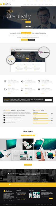 Jollyany - Corporate Multi Purpose HTML5 Template  #html5templates #psdtemplates