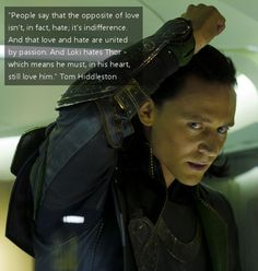 Tom Hiddelston on Loki. Awww.