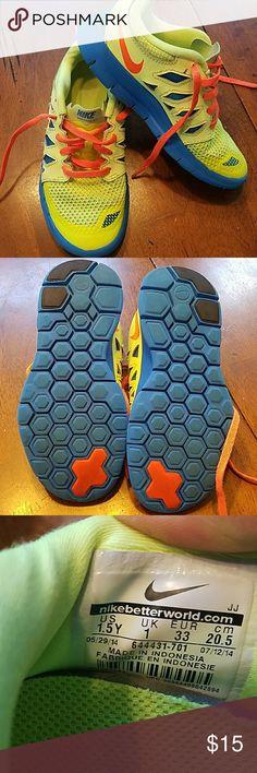 Nike free 5.0 shoes Nike yellow/blue running shoes Nike Shoes Sneakers