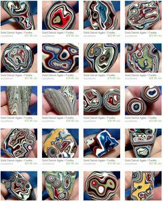 Solid Fordite cabochon, known locally as Detroit Agate. Not an agate at all… Minerals And Gemstones, Crystals Minerals, Rocks And Minerals, Stones And Crystals, Gem Stones, Rock Collection, Beautiful Rocks, Rocks And Gems, Paint Shop