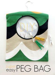 DIY Super Easy Peg Bag | My Poppet Makes