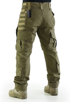 Amazon.com : ZAPT Breathable Ripstop Fabric Pants Military Combat Multi-pocket Molle Tactical Pants with EVA Knee Pads (Khaki, S) : Sports & Outdoors