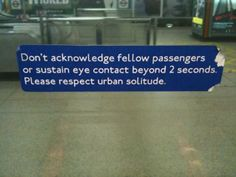 Fake sign in London tube