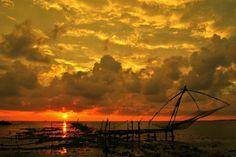 A beautiful #SunSet from #FortKochi #Beach