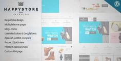 Download and review of HappyStore - Responsive WordPress WooCommerce Theme, one of the best Themeforest eCommerces themes