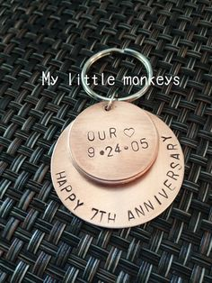 7th Wedding Anniversary Gift  Copper Gift  by MyLittleMonkeysAZ, $25.00