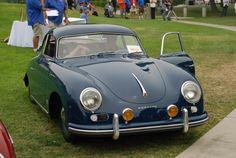 Azul Escuro Porsche 356A coupe__trophy winner_356 Clube da Califórnia Dana Point Concours_ 21 de julho de 2013