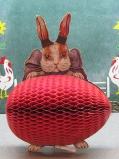 1920's Easter Honeycomb Decoration~