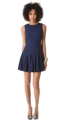 Alice + Olivia navy dress.
