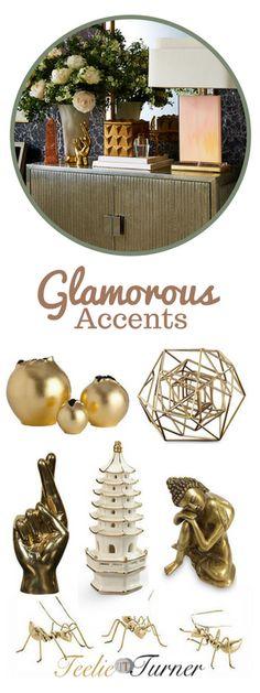 The Luxe Look  Glamorous Accents: www.teelieturner.com #homedecor