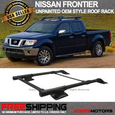 For 05 14 Nissan Frontier 4Dr OE Style Roof Rack Cargo Carrier Aluminum+ABS