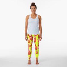 'Watercolor leafs yellow floral print' Leggings by PolinaMel Designer Leggings, High Street Fashion, Streetwear, Paisley Pattern, Swirl Pattern, Marble Pattern, Printed Leggings, Funky Leggings, Gym Leggings