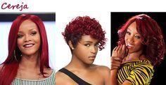 Os melhores e mais indicados tons de cabelos ruivos para negras, em fotos (cabelos vermelhos também)!