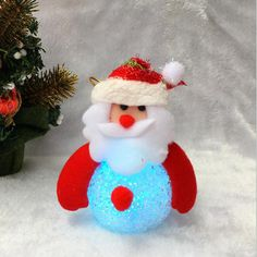 LED Night Light Christmas Decorations Snowman Glowing Lighted Tree Oraments Bear Deer Rice Grain Home Decoration Pendant R126