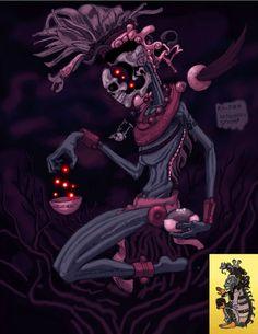 """Conocido también como Ah Puch, Yum Kímil es el principal dios maya de la muerte y ostenta el título de """"Amo de la muerte""""."""
