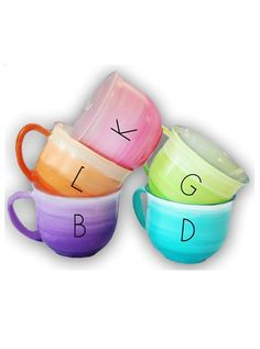 colorful cups with a personal touch!