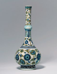 İznik Pottery Water Bottle, Turkey (Ottoman Empire), Circa 1540-1545