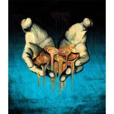 """EL PAÍS - Negocios """"¿La crisis funde salarios""""   Financial -  Economy - Business - Press - Editorial - Illustration"""