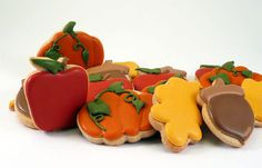 Decorated Cookies  Autumn  Leaves  Fall  Apple  by katieduran:  I wish I had the patience and skill to decorate cookies like this!