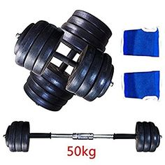 AllRight Dumbbell Sets Bar Weights Gym Fitness Exercise Weight Set 50kg