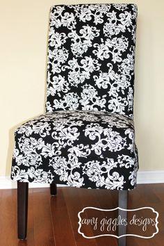 custom parsons chair slip cover