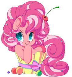 my little pony fan art | Pinkie Cupcake Pie - My Little Pony Friendship is Magic Fan Art ...