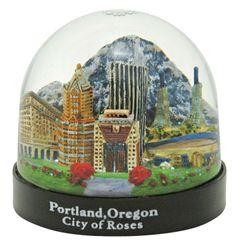Portland Oregon City of Roses Snow Globe ,